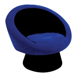 "Lumisource - Saucer Chair, Blue - 26.5"" L x 32.5"" W x 28"" H"
