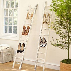 eclectic clothes and shoes organizers by Pottery Barn