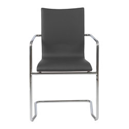 Eurostyle - Sabati Mesh Office Chair No Arms - Black/Chrome - Leatherette over foam seat