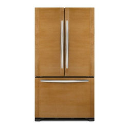 "KitchenAid - Architect Series II KFCO22EVBL 36"" 22 cu. ft. Capacity Counter-Depth French Door - The KitchenAid KFCO22EVBL 218 Cu Ft French door refrigerator with an internal water dispenser features the SatinGlide crisper drawers and freezer baskets that slide in and out easily even when fully loaded Flat smooth doors with hidden hinges will ad..."