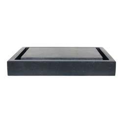 Eden Bath - Eden Bath S006BA-H Rectangular Infinity Pool Sink - Honed Black Basalt - Inspired by the infinity pools found at so many high end hotels and contemporary residences  the Eden Bath line of Infinity Pool Stone Sinks is a wonderful interpretation of a modern design trend. The beauty of the infinity pool stone sink is that it is made of two unique pieces  the sink base (which can be used by itself  as a regular rectangular stone sink) as well as the infinity insert which is a raised slab that sits inside of the sink base. With the drain hidden  the sink demands attention from anyone who lays eyes on it  its unique design will be a centerpiece of your modern bathroom. This particular model is made of honed black basalt  a volcanic rock that gives a wonderful muted dark-dark gray / black effect with underlying blotches of texture.