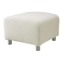 IKEA of Sweden - KLIPPAN Footstool cover - Footstool cover, Alme natural
