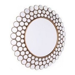 Emily Circles Mirror - This mirror is an inexpensive way to add glamour to your house. Use it in an entry or above your bed for instant drama.