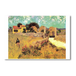 "PosterEnvy - Farmhouse in Provence 1888 - Vincent van Gogh - Art Print POSTER - 12"" x 18"" Farmhouse in Provence 1888 - Vincent van Gogh - Art Print POSTER on heavy duty, durable 80lb Satin paper"