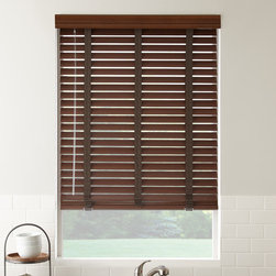 """2"""" American Hardwood Wood Blinds - Custom made wood blinds bring a rich look and warm feel to any room. SelectBlinds' 2"""" American Hardwood blinds are made from kiln-dried wood, giving durability to handle some of the most severe weather conditions."""