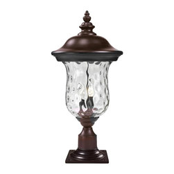 Z-Lite - 16 in. Outdoor Post Mount Light - Bulbs not included