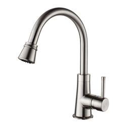 Kraus - Kraus KPF-2220CH Single Lever Pull Out Kitchen Faucet - Update the look of your kitchen with this multi-functional Kraus pull-down faucet