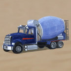 Construction Collection - One of three trucks in this sturdy collection, the Cement Truck is the perfect addition to any boy's room. Giclee canvas reproduction of an original oil painting. Perfect for your little one's nursery, bedroom, or playroom! Signed by the artist. Lightweight and fully assembled with wire hanger for easy hanging. No glass or frame needed!