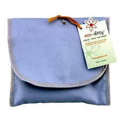Eco Ditty - Eco Ditty wich Ditty Sandwich Bag , Powder Blue - When you care about the planet, you want to make the forest greener and the skies bluer, and this handy little blue pouch can help you do just that. The Eco Ditty wich Ditty Powder Blue Sandwich Bag is a replacement for plastic sandwich bags.