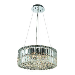 "PWG Lighting / Lighting By Pecaso - Chantal 12-Light 20"" Crystal Chandelier 1726D20C-EC - The unique design of the Chantal Collection inspires any room setting. Dazzling spectacles of light sparkles throughout the fixture creating a modern, yet timeless beauty and elegance."