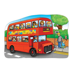 The Original Toy Company - The Original Toy Company Kids Children Play Little Bus - Double Sided Puzzle. See all the passengers on the bus as you piece together this jolly little jigsaw. Then, what a suprise, the bus driver on the other side is a monkey and all the passengers are animals.