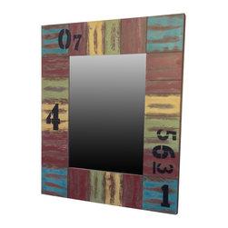 Distressed Painted Mirror - Samantha LeRoy