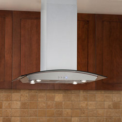 """Casa Series 30"""" Stainless Steel Island Range Hood - 600 CFM - The Casa Series 30"""" Stainless Steel Island Range Hood will make a marvelous addition to any kitchen. It features four halogen lights, a three-speed blower and a telescoping flue to accommodate most ceiling heights."""