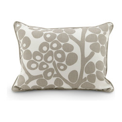 "Oilo - 13"" x 17"" Modern Berries Pillow, Taupe - Manufactured from 100% woven cotton and encased in a high-quality zippered enclosure, Oilo's dapper collection of eco-friendly, dacron-filled pillows are the secret to spicing up any room. Oilo pillows provide the perfect accent for cribs, gliders, bedding and more. Machine Washable. Made in the USA."