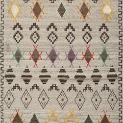 Safavieh - Safavieh Kenya KNY812A 9' x 12' Multi Rug - Inspired by afghan throws crocheted by hand in Kenya of indigenous un-dyed wool, Safavieh's Kenya rug collection is textural and beautifully detailed. Hand-tufted in India of pure, naturally colored wool, they add a well-traveled look to any room.