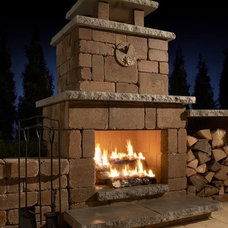 Contemporary Fireplaces by ROCKWOOD Retaining Walls