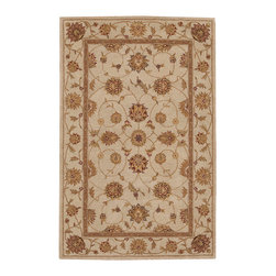 """Nourison - Nourison Heritage Hall HE08 3'9"""" x 5'9"""" Ivory Area Rug 19338 - Indulge in ivory with this aristocratic textile. Beautifully conceived in lush floral forms, and gorgeously woven in delicate tones, it has all the patina of a priceless antique, yet is wonderfully at ease in the modern home."""
