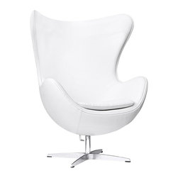 Inner Chair, White Leather -