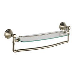"""Delta - Delta 18"""" Glass Shelf With Removable Bar - 79710-Ss - Classical design meets modern technology with a clean and simple silhouette."""