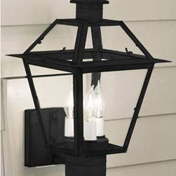 Norwell - Lexington Outdoor Wall Mount - -Solid Brass  - Finial and bottom of lantern is brass Norwell - 2233-BL-CL