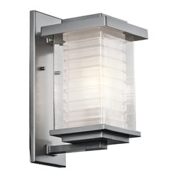 Kichler Lighting - Kichler Lighting KCH-49365-PL Ascari Modern / Contemporary Outdoor Wall Sconce - This versatile 1 light incandescent outdoor wall fixture from the Ascari™ collection makes a clean, understated statement. With its Platinum finish and Clear Outer Glass with Etched Inside Inner Glass, this design will enhance any space.