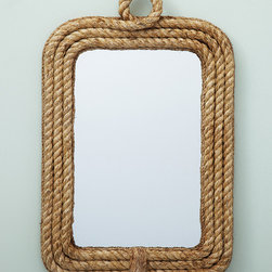 Know Your Ropes Wall Mirror - This rope mirror would be great in a lot of decor styles. It could easily fit with industrial or contemporary homes.