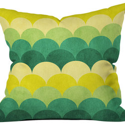 DENY Designs - Arcturus Scales Throw Pillow - Wanna transform a serious room into a fun, inviting space? Looking to complete a room full of solids with a unique print? Need to add a pop of color to your dull, lackluster space? Accomplish all of the above with one simple, yet powerful home accessory we like to call the DENY throw pillow collection! Custom printed in the USA for every order.