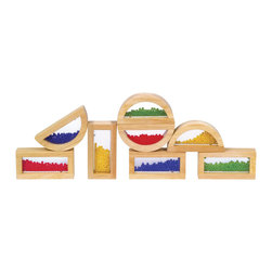 Guidecraft - Guidecraft Hardwood Rainbow Blocks - Crystal Bead - Guidecraft - Wooden Play Sets - G3012 - A great addition to the block play family An adventure in color, light and sound! Indulge your child's appetite for exploration by merging blocks together to form new colors and sounds or stack the blocks in a different order each time to form new and exciting shapes.