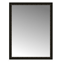 """Posters 2 Prints, LLC - 49"""" x 64"""" Mantilla Expresso Custom Framed Mirror - 49"""" x 64"""" Custom Framed Mirror made by Posters 2 Prints. Standard glass with unrivaled selection of crafted mirror frames.  Protected with category II safety backing to keep glass fragments together should the mirror be accidentally broken.  Safe arrival guaranteed.  Made in the United States of America"""
