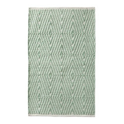 Nate Berkus Aztec Diamond Bath Rug, Mint - Mint can even be used as a neutral. Try this rug in a space to add just the right amount of color and texture. This diamond pattern is an absolute favorite of mine.