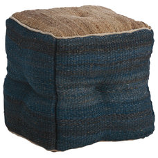 Rustic Ottomans And Cubes by Masins Furniture