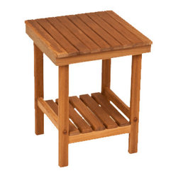 """TEAKWORKS4U - Teakworks4u Mini Rigid Teak Shower Bench, 12-1/2""""L x 12-1/2""""W x 16""""H - Teakworks4u Mini Rigid Teak Shower Bench is ideal for small spaces. It has plenty of room for toiletries, plants and for many other multi-purposes. It comes fully assembled and ready to use right out of the box."""