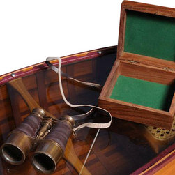 EuroLux Home - New Binocular Wood Box Leather Overlay - Product Details