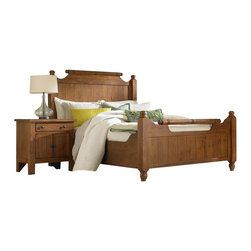 Broyhill - Broyhill Attic Heirlooms Feather Bed 3 Piece Bedroom Set - Broyhill - Bedroom Sets - 439X5XX3PcFeatherBedSet - Broyhill Attic Heirlooms Oak Stain 5 Drawer Chest (included quantity: 1) About This Product: