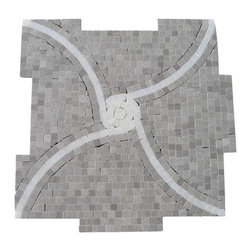 "GlassTileStore - Windmill Gray and China White Marble Tile - Windmill Gray and China White Marble Tile             This hand-made micro marble mosaic was handlely single cut by hand and will provide endless design possibilities from contemporary to classic. It creates a great focal point to suit a variety of settings.         Color: Gray and White   Material: Gray and China White   Finish: Polished   Sold by the Sheet- each sheet measures 12""x12"" (1 sq.ft.)   Thickness: 10mm   Please note each lot will vary from the next.               - Glass Tile -"