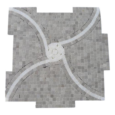 """GlassTileStore - Windmill Gray and China White Marble Tile - Windmill Gray and China White Marble Tile             This hand-made micro marble mosaic was handlely single cut by hand and will provide endless design possibilities from contemporary to classic. It creates a great focal point to suit a variety of settings.         Color: Gray and White   Material: Gray and China White   Finish: Polished   Sold by the Sheet- each sheet measures 12""""x12"""" (1 sq.ft.)   Thickness: 10mm   Please note each lot will vary from the next.               - Glass Tile -"""