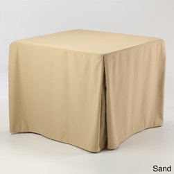 None - Eva Basic 34x34-inch Square Fitted Tablecloth - This custom fitted tablecloth is designed for 34x34-inch square card tables. This tablecloth has four inverted pleats which allow sides to open without showing legs and enables sitting at the table with ease.