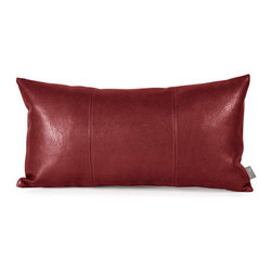 Howard Elliott Collection - Avanti Apple Kidney Pillow - - Change up color themes or add pop to a simple sofa or bedding display by piling up the pillows in a multitude of colors, textures and patterns. This Avanti Pillow features a bold apple red color, textured grain and a paneled design to give the look of true leather  - The high-style design and high-end materials in the pillows are what set Howard Elliott apart from the competition  - Howard Elliott?s innovative product line is carefully designed and packaged to ensure low damage rates for their high quality and custom items. Howard Elliott Collection - 4-193