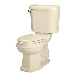 American Standard - Townsend Champion 4 Right Height Elongated Two-Piece Toilet in Bone - American Standard 2733.014.021 Townsend Champion 4 Right Height Elongated Two-Piece Toilet in Bone.