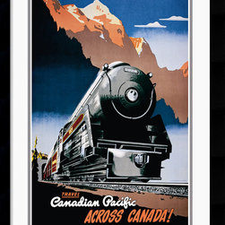 Amanti Art - Canadian Pacific across Canada, 1930 Framed Print - Canadian Pacific Railroad produced a expansive line of advertising designed to lure people into their region and persuade them to travel on their railroad. Add a touch of vintage flair to your decor.