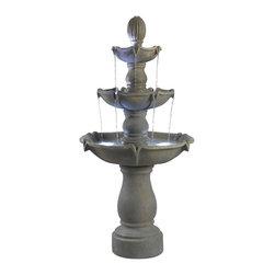 Kenroy - Kenroy 50333DT Sherwood Outdoor Floor Fountain - Kenroy 50333DT Sherwood Outdoor Floor Fountain