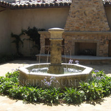 Mediterranean Outdoor Fountains by Ancient Surfaces