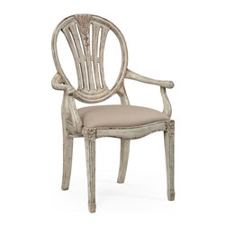 Jonathan Charles - New Jonathan Charles Dining Chair Gray Arm - Product Details