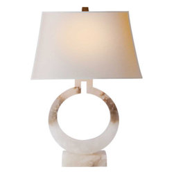 Large Ring Table Lamp - This is one of my most favorite lamps. I have this one on an antique chest in my dining room. A pair would also look great in a master bedroom!