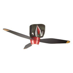 Craftmade - Tiger Shark Ceiling Fan - Airplane Ceiling Fan -