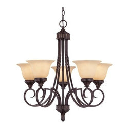 Savoy House - Savoy House 1P-5590-5 Legend 5 Light Chandelier - Features: