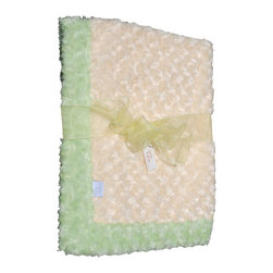 Sage/Yellow Baby Blanket - This throw blanket is supremely soft and cozy while its two-tone color scheme keeps it looking elegant and sophisticated in any nursery. Buy this blanket for your baby or give as a shower gift to expectant parents. They'll be sure to love and cherish it for years.