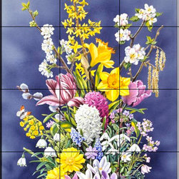 The Tile Mural Store (USA) - Tile Mural - Spring Flowers - Kitchen Backsplash Ideas - This beautiful artwork by Harro Maass has been digitally reproduced for tiles and depicts a spring flowers bouquet.  With our enormous selection of tile murals of plants and flowers you can bring your kitchen backsplash tile project to life. A decorative tile mural with plants and flowers is an impressive kitchen backsplash idea and decorative flower tiles also work great in the bathroom. Add splashes of color and life to your tile project with images of flowers on tiles and tiles with pictures of plants.