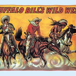 "Buyenlarge.com, Inc. - Buffalo Bill: Three Riders - Paper Poster 12"" x 18"" - Another high quality vintage art reproduction by Buyenlarge. One of many rare and wonderful images brought forward in time. I hope they bring you pleasure each and every time you look at them."