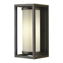 Murray Feiss Lighting - Murray Feiss Lighting-OLPL7000ORB-Wall Lantern - Inspired by mid-century modern lifestyle, these lanterns are simple and clean in design. Straight lines and opal etched glass form symmetrical shapes complemented in an Oil Ribbed Bronze finish. Backplate is rectangle in shape.
